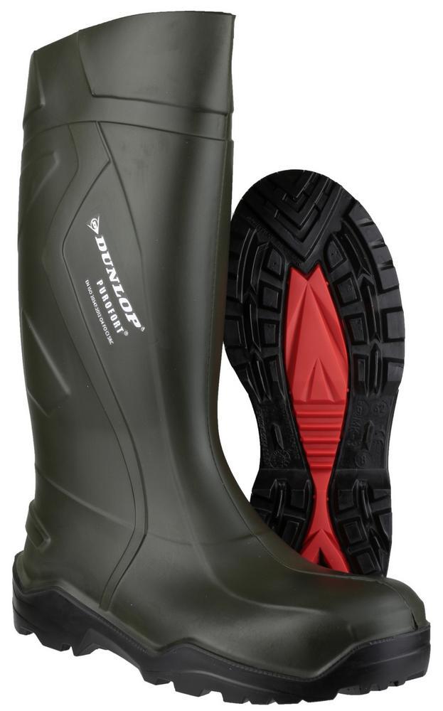 Dunlop Purofort+ D760933 Safety Oil Resistant Wellington Green By Dunlop