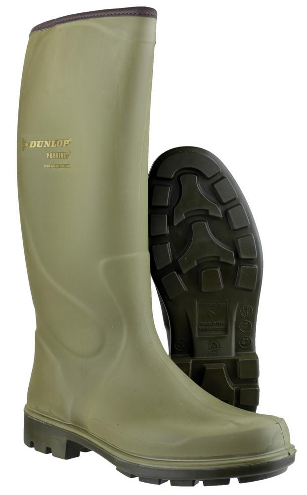 Purofort Terroir Pro P184833 Non Safety Green Wellington by Dunlop