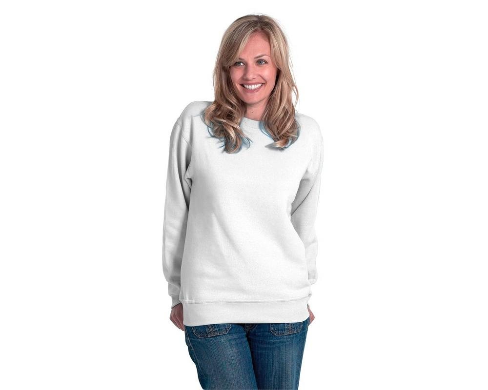 Uneek Uc203 White Polycotton Painter Sweatshirt