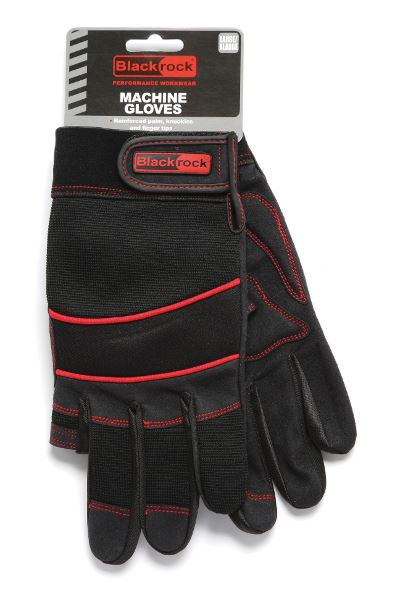 Blackrock 5400400 Fingerless On Index & Thumb High Palm Grip Machine Work GLoves