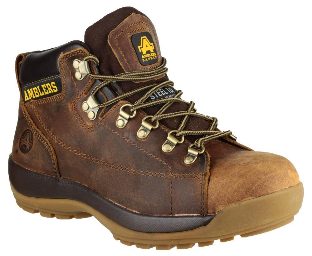 Amblers FS126 Crazy Horse Leather, Mid Sole Protection Unisex Safety Boots