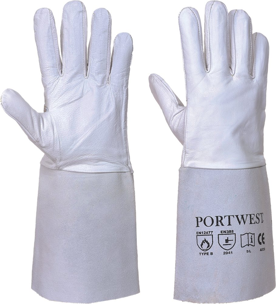 Portwest A520 Tig Welders Gauntlet Grey