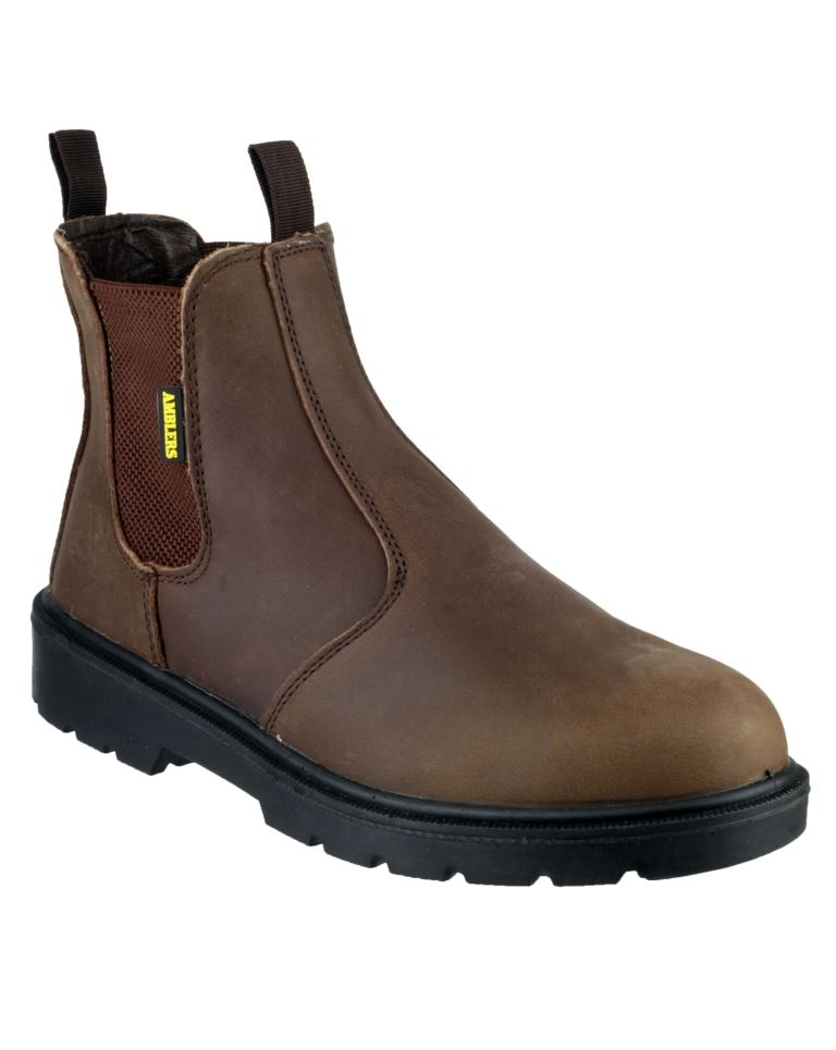 Amblers FS128 Steel Toe Pull On Men's Safety Dealer Boots