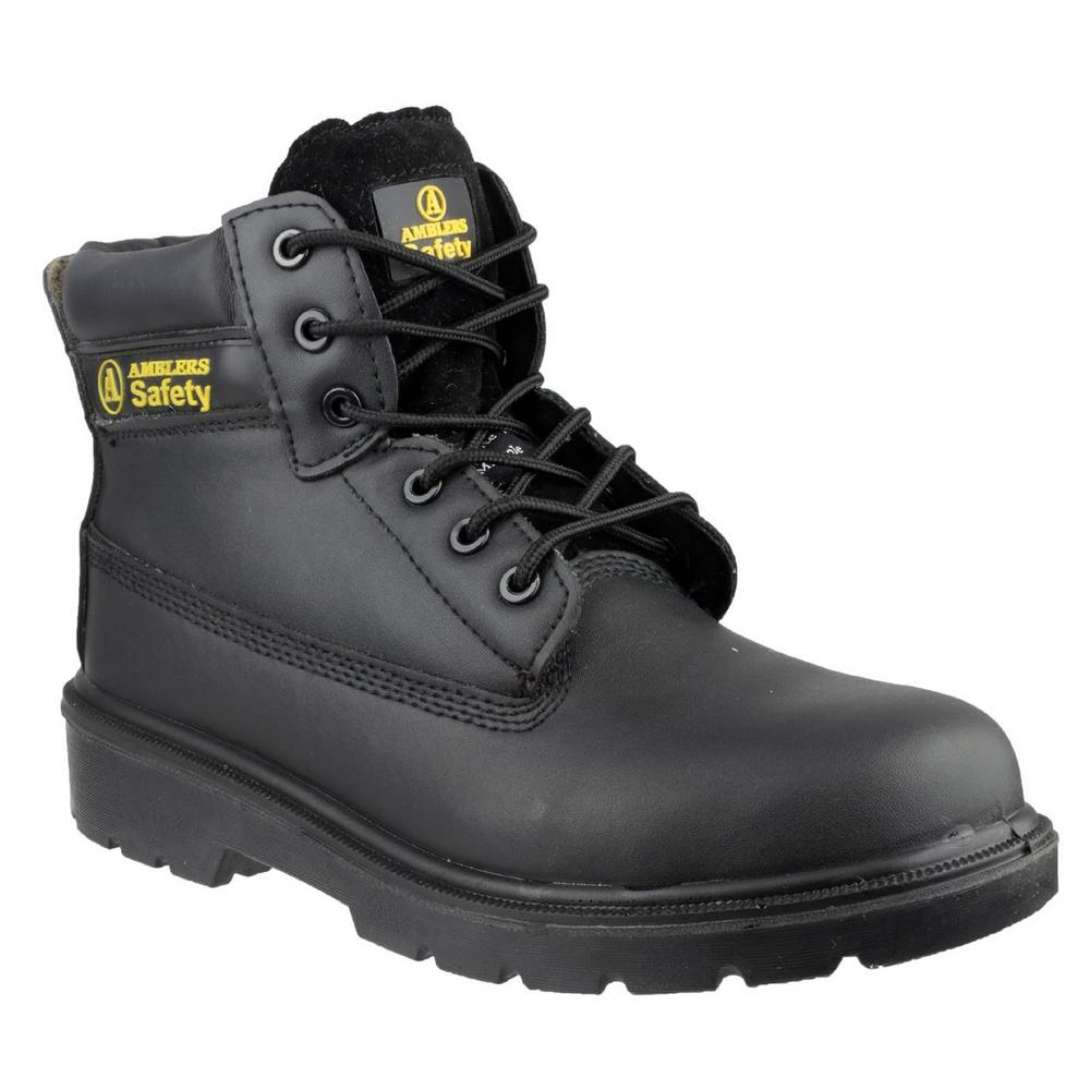 Amblers FS12C Unisex Metal-Free S1 Slip- Resistant Safety Boot - black