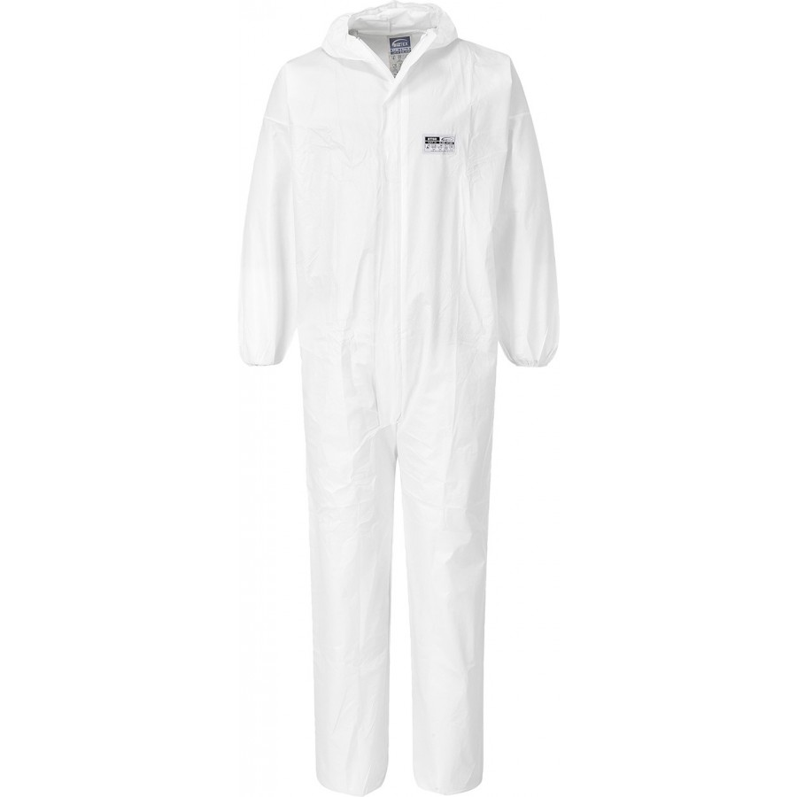 Portwest ST50 BizTex Microcool 5/6 White Coverall (Pack of 50)