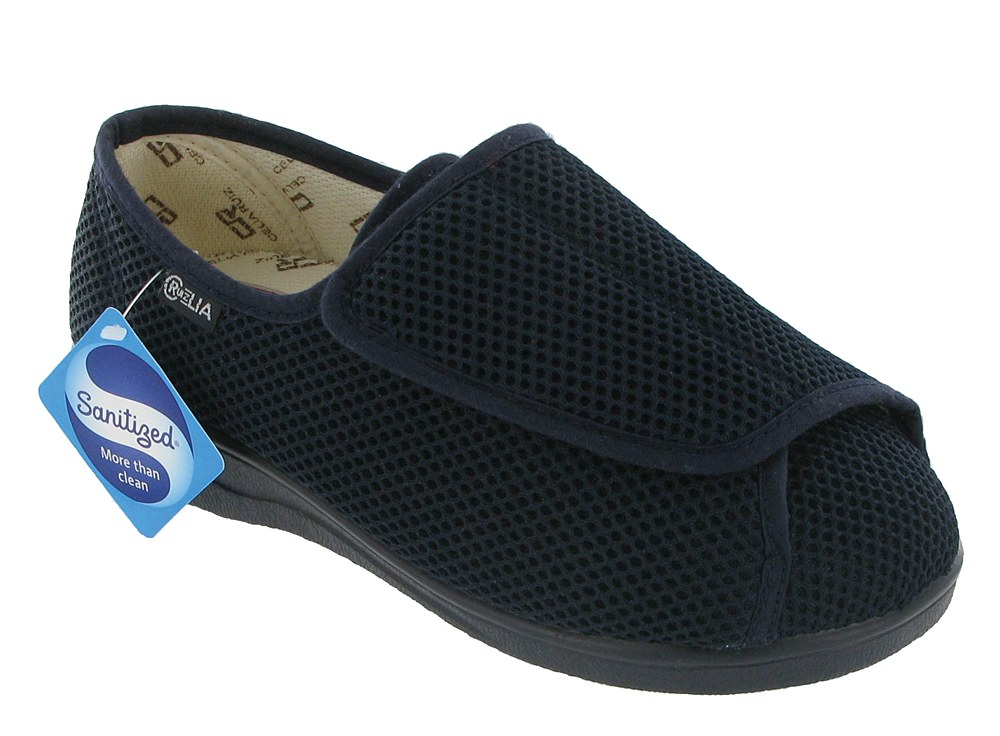 Mirak Wide Fit Summer Womens Shoes - Navy