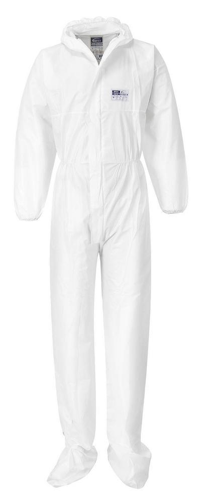 Portwest ST41 BizTex Booted Coverall White (Pack of 50)