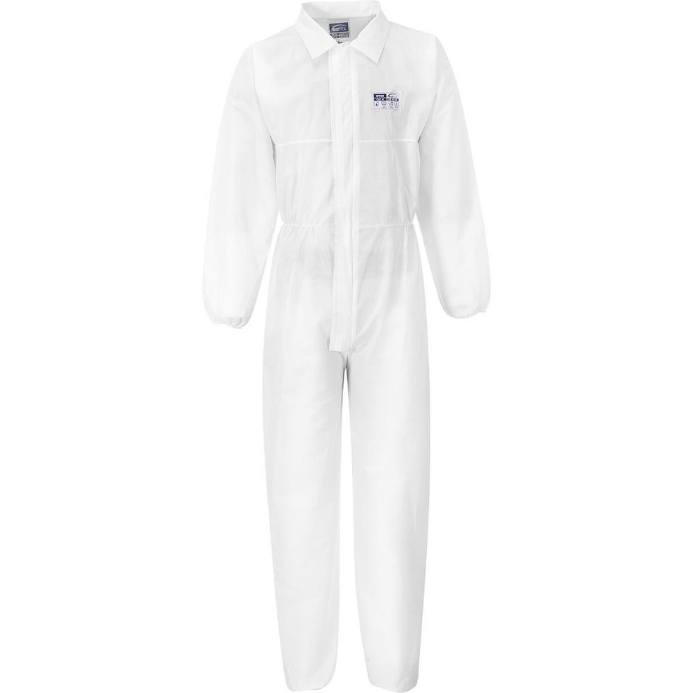 Portwest ST38 BizTex SMS Coverall with Collar White (Pack of 50)