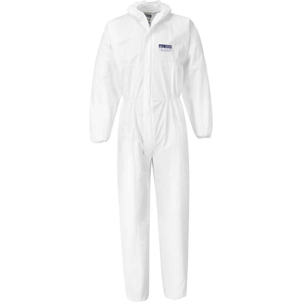Portwest ST40 BizTex Microporous Coverall White (Pack of 50)