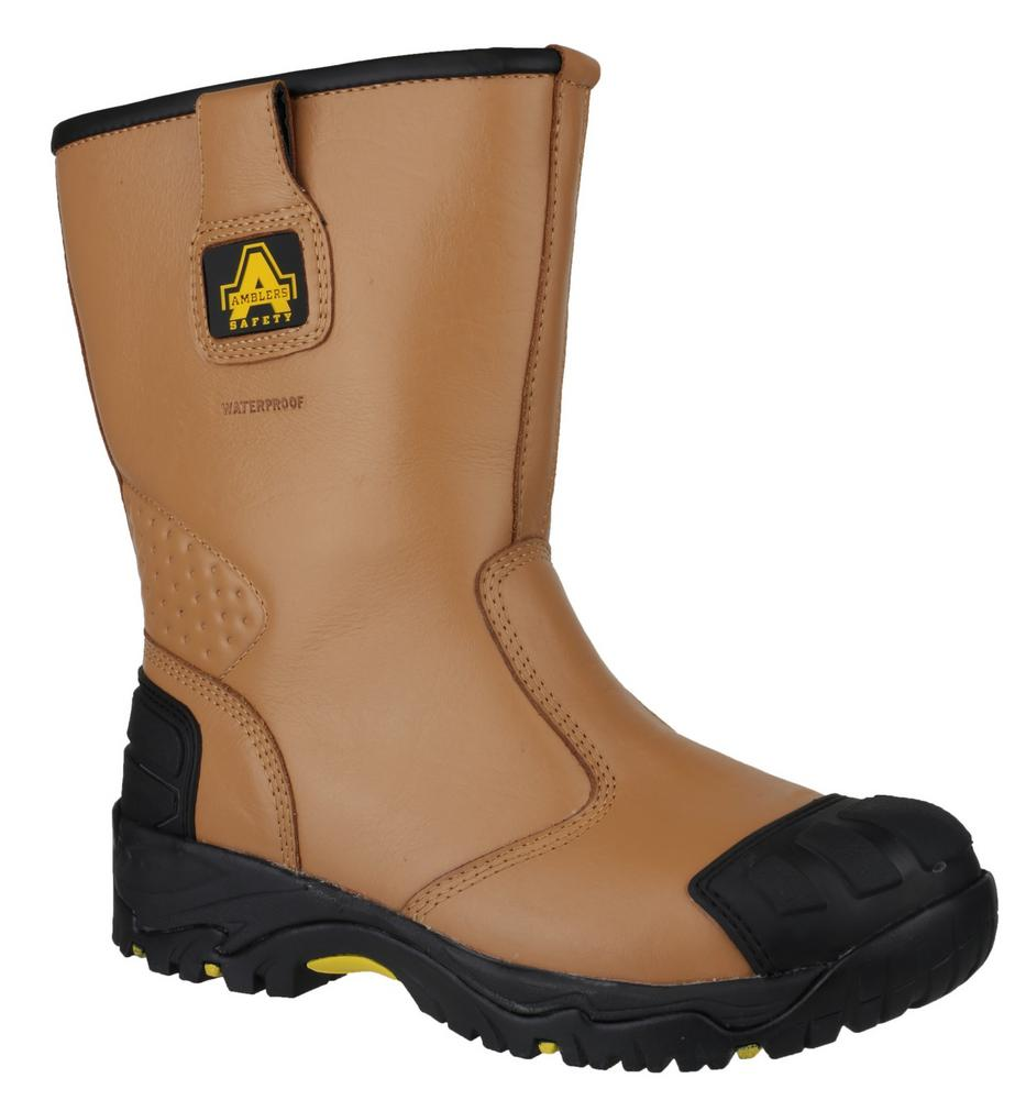 Amblers FS143 Men Steel Toe & Midsole Safety Leather Rigger Boot - Tan