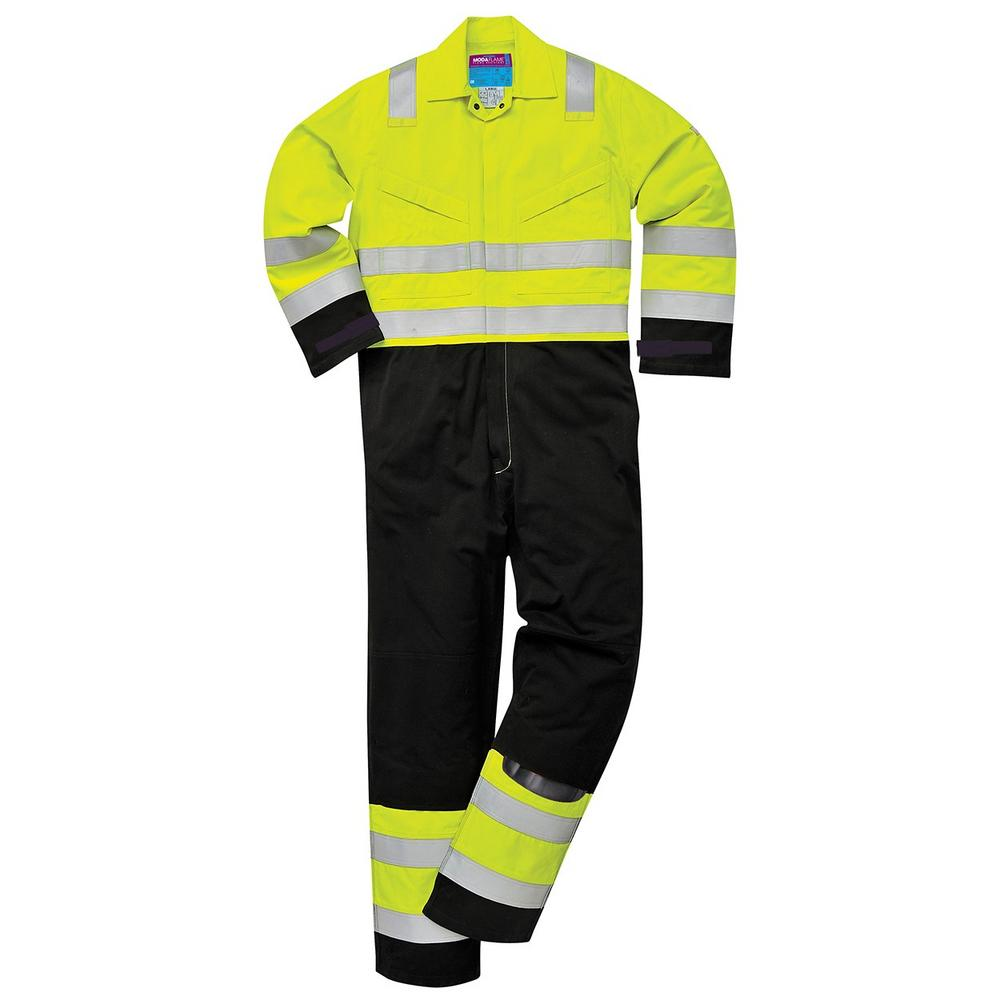 Portwest MV28 Hi Vis Modaflame Coverall Yellow