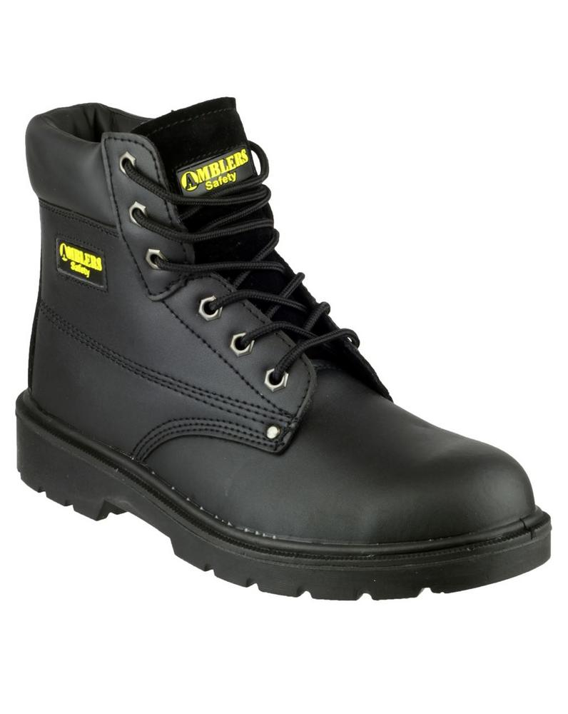 Amblers FS159 S3 SRC Leather Steel Toe Men's Boot - Black