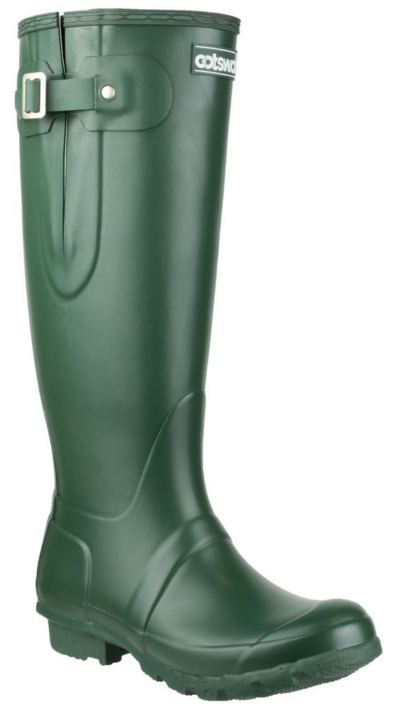 Cotswold Green Rubber Windsor Wellington Boot