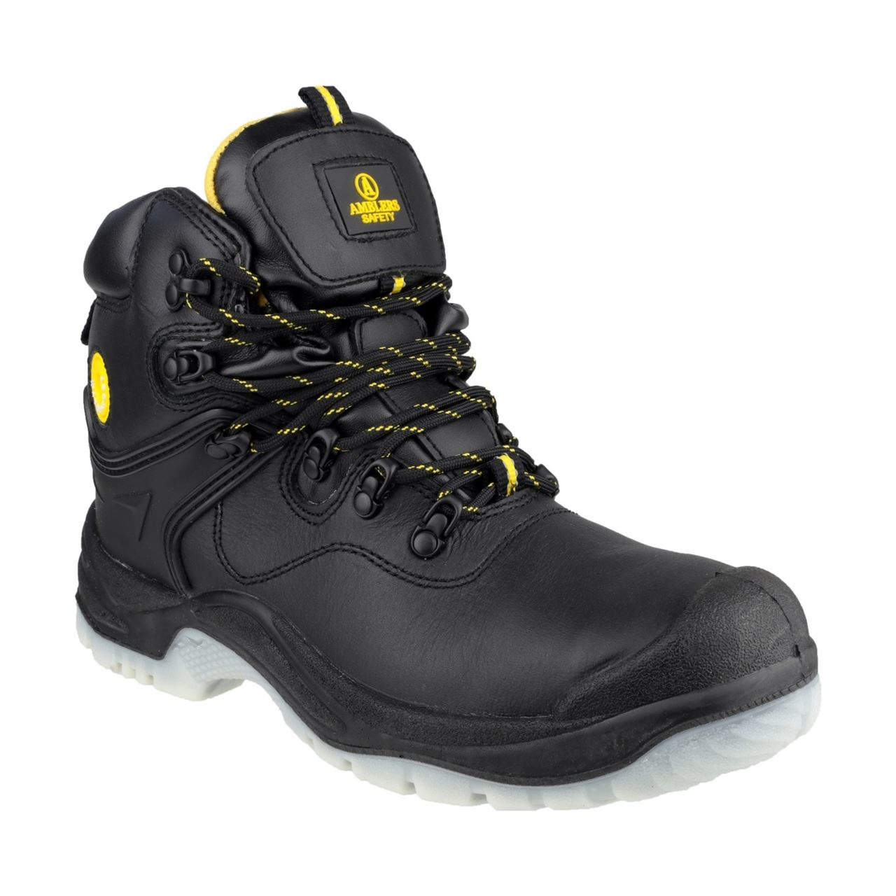 Amblers FS198 Unisex Waterproof S3 Pull On Safety Boot - Black