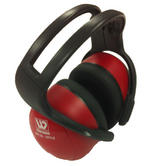 Wenaas Earmuffs 33dB SNR Headband Red Ear Defenders Lightweight