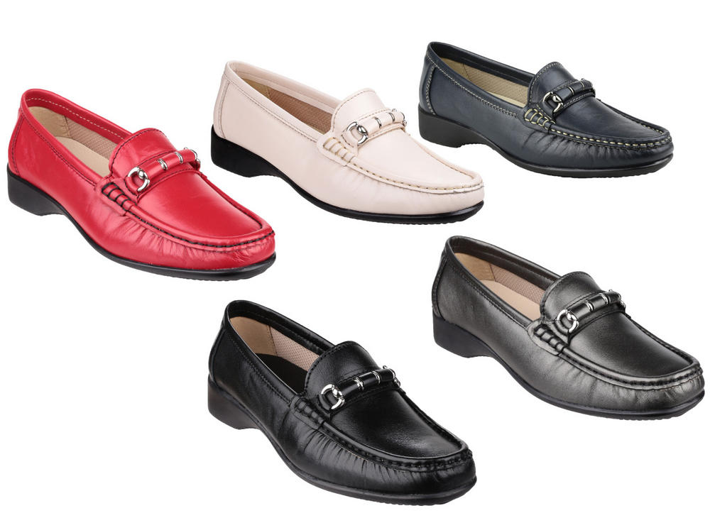 Cotswold Barrington Loafer Low Heel Secure Fit Slip On Womens Shoes