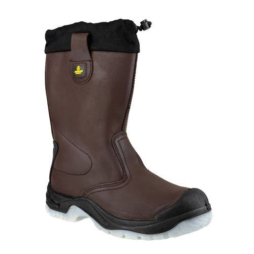 Amblers FS219 Unisex Anti-Static Steel Toe Safety Rigger Boot Brown