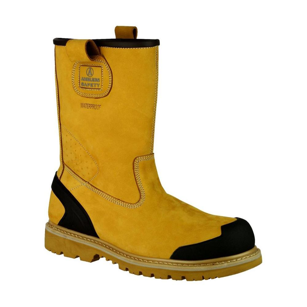 Amblers FS222C S3 Nubuck Leather Waterproof Safety Rigger Boot - Honey
