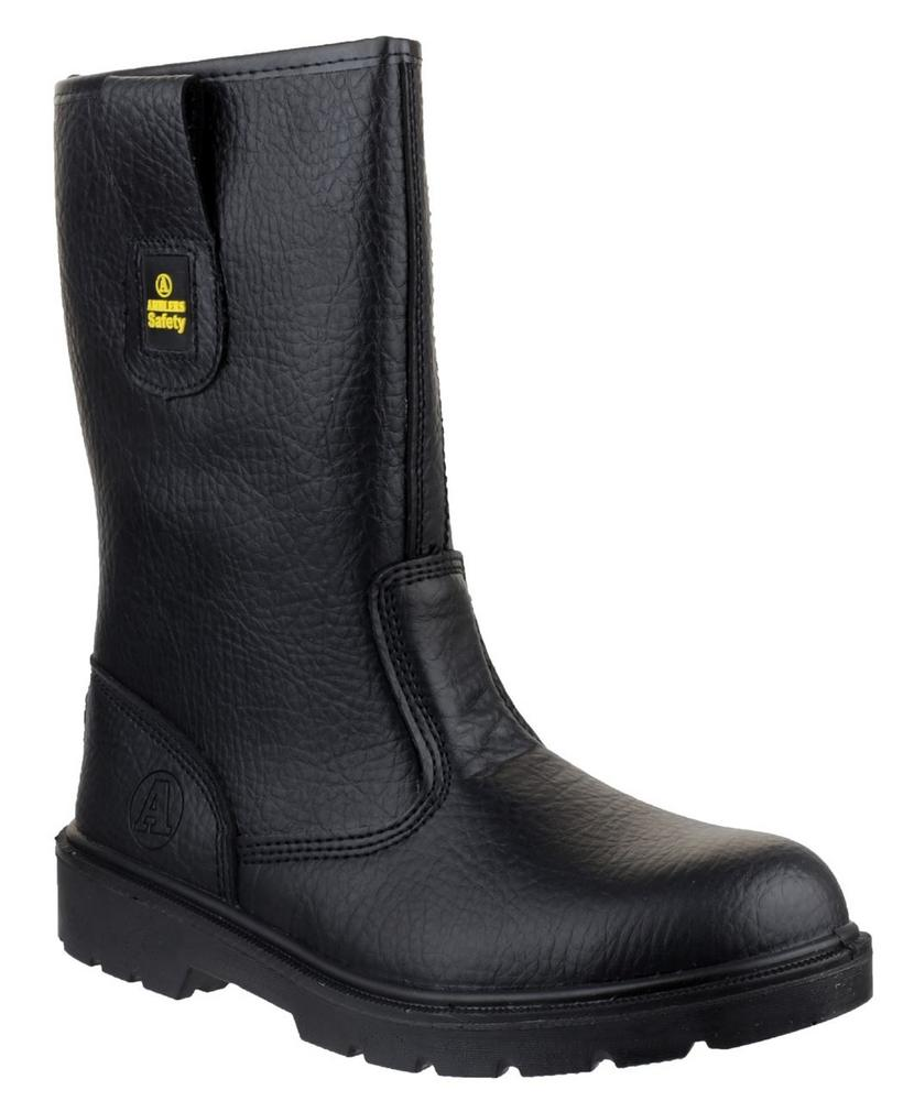 Amblers FS224 Lined Safety Rigger Boots - Black