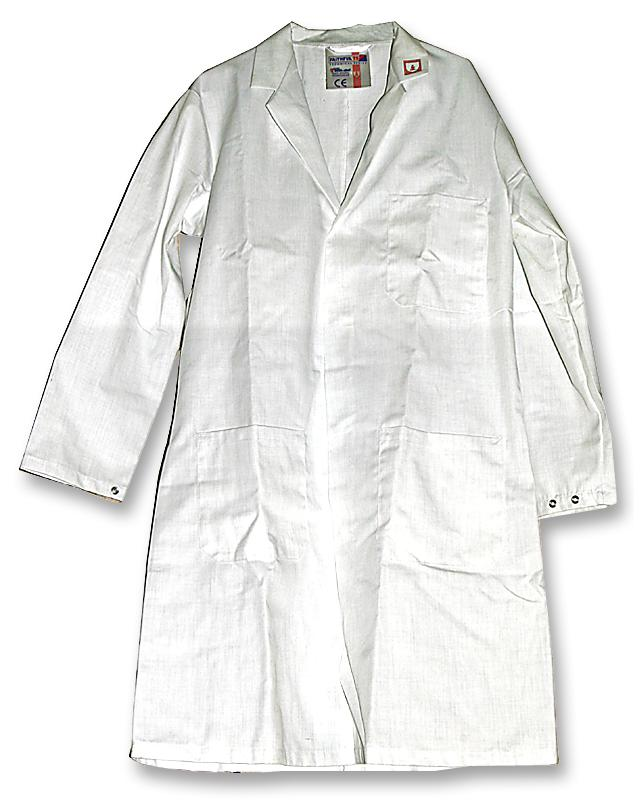 Faithful 449 ESD White Long Coat E1WH