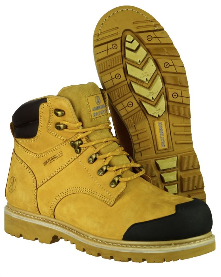 Amblers FS226 S3 Water Resistant Safety Boot - Honey