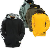 Caterpillar C1910802 Logo Panel Men's Hooded Hoodie