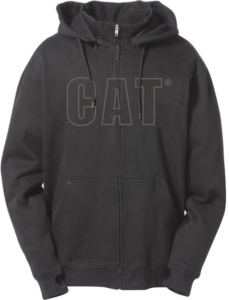 Caterpillar Applique Black Logo Detail Long Sleeves Hooded Casual Sweatshirt