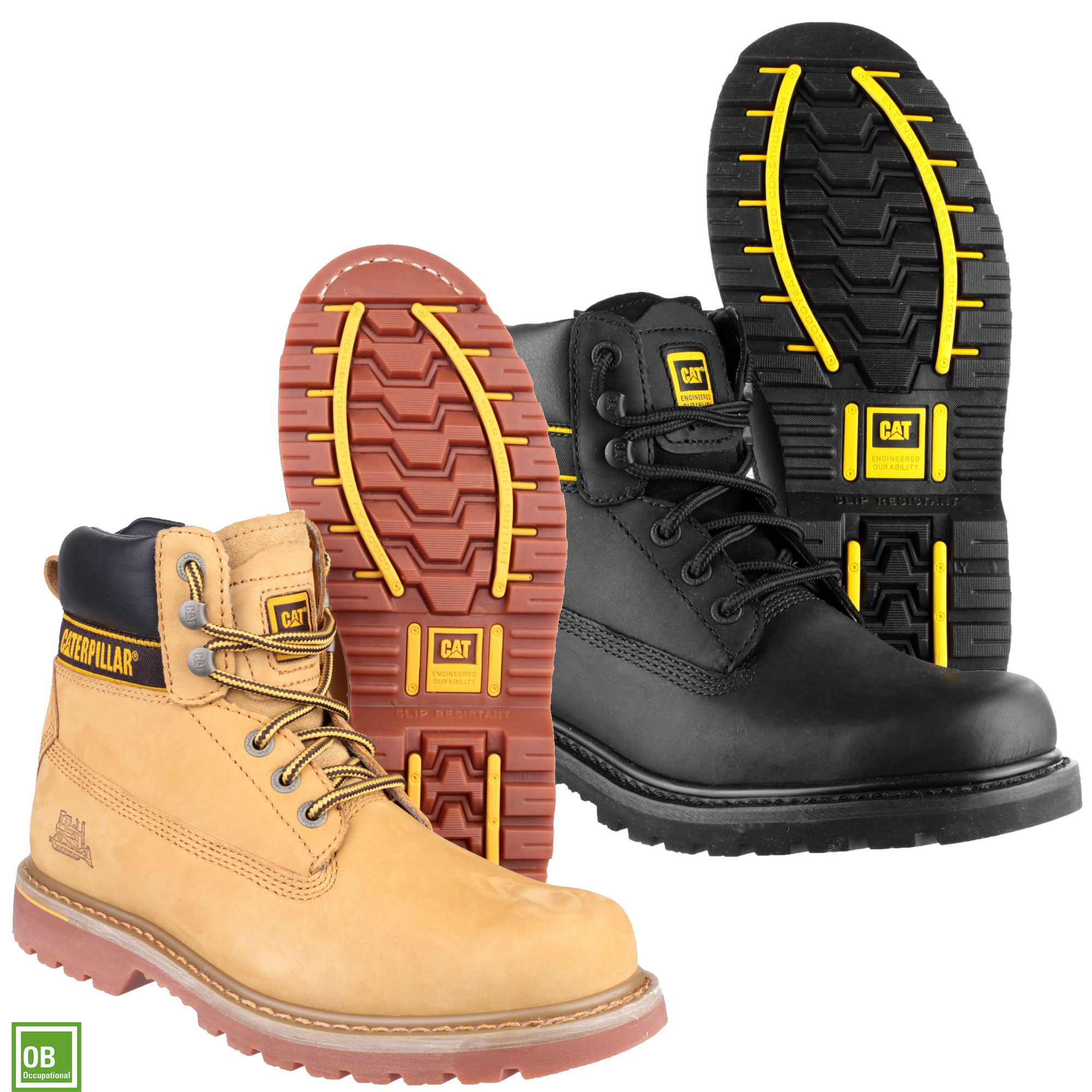e9d947745305f Caterpillar CAT Holton OB Lace up Leather Work Boot