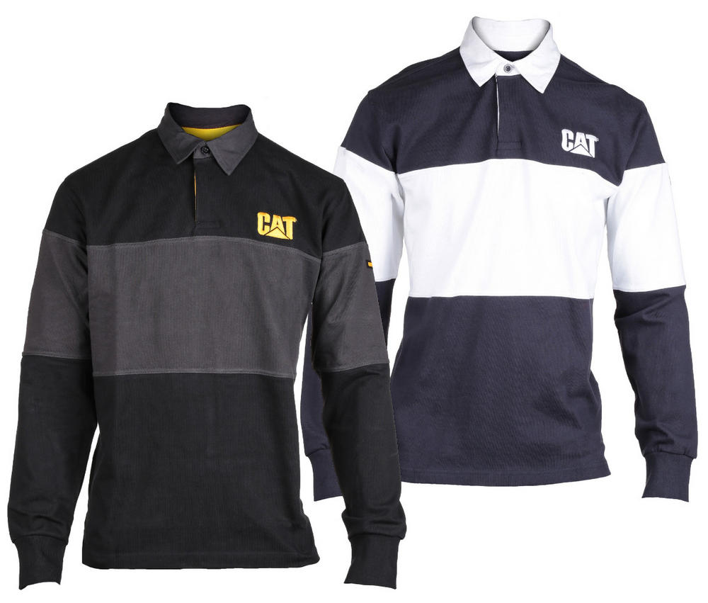 Caterpillar C1620530 Button Collar Long Sleeves Rugby Shirt