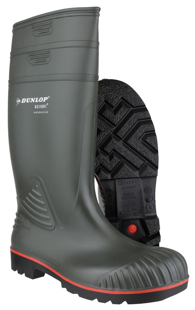 Dunlop A442631 Acifort Heavy Duty Full Safety Wellingtons Green
