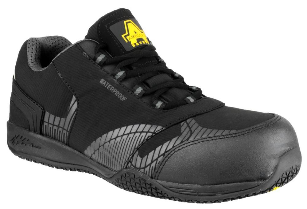 Amblers Safety Men's FS29C Waterproof Safety Trainers Black