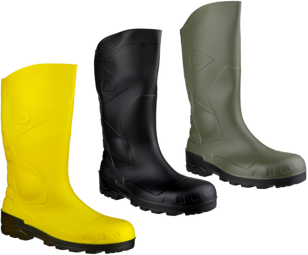 Dunlop Devon H142611 3/4 Length Calf Steel Toe Unisex Safety S5 Rubber Wellingtons Boots Various Colours
