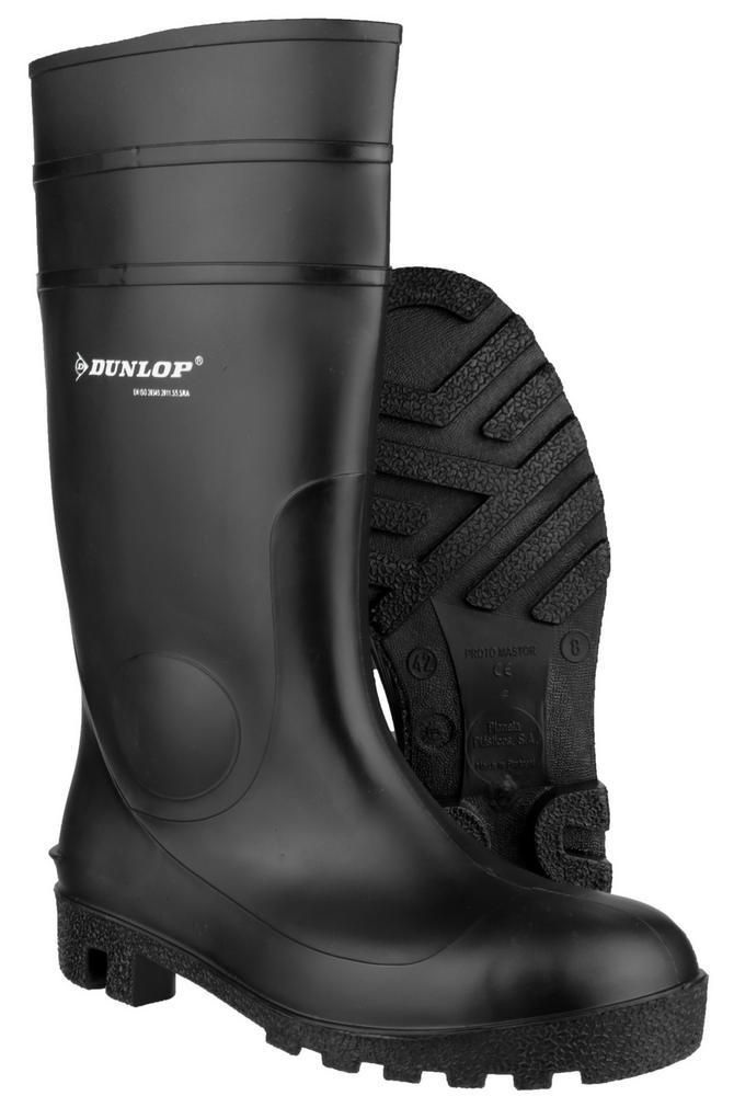 Dunlop Protomastor Full Safety 142PP Wellingtons - Black