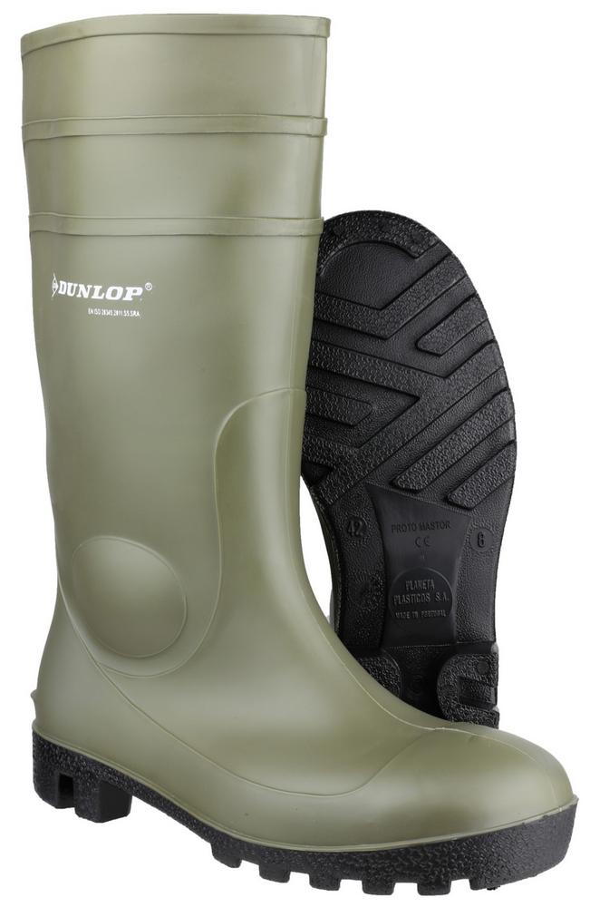 Dunlop Protomastor Full Safety 142PP Wellingtons - Green