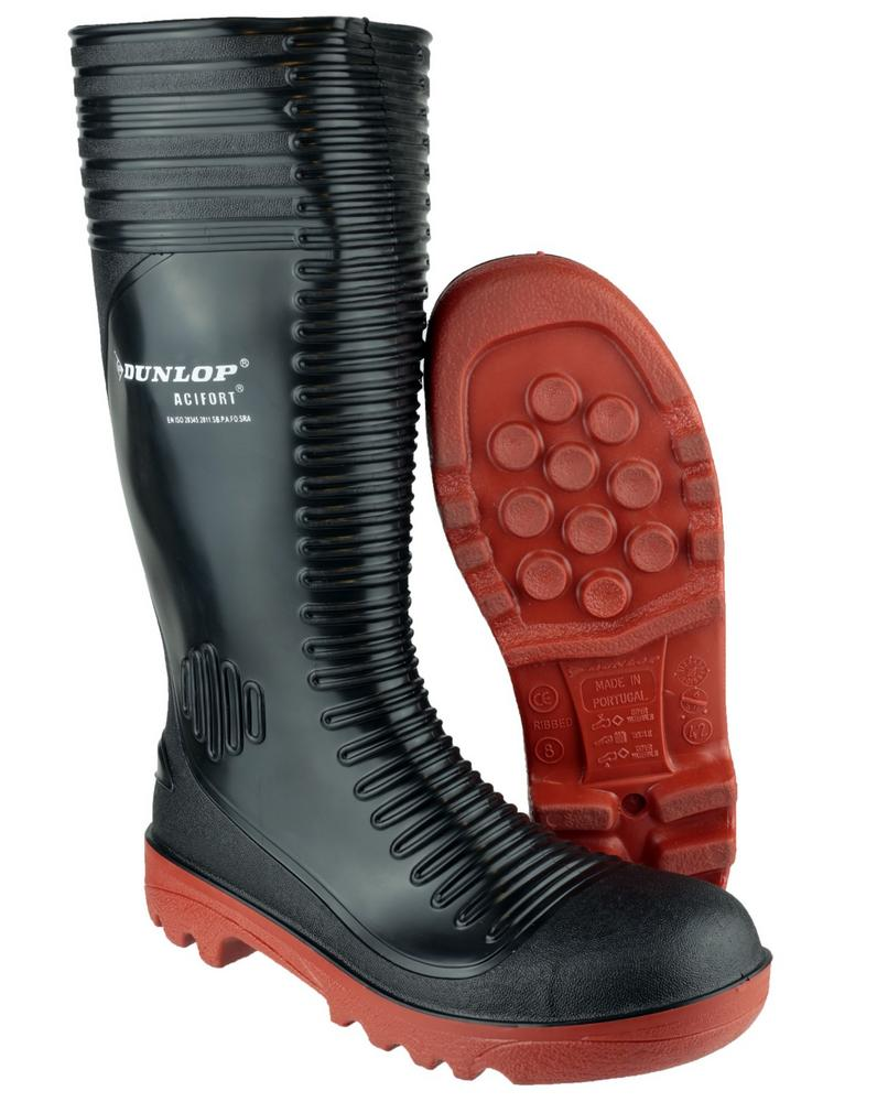 Dunlop Acifort A252931 Steel Toe Caps & Midsole Ribbed Full Safety Wellingtons