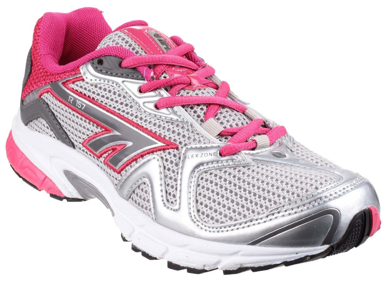 33ccd88bb5b Hi-Tec R157 Reflective Womens Sports Trainer Shoes Lace-Up Jogging Running  Gym