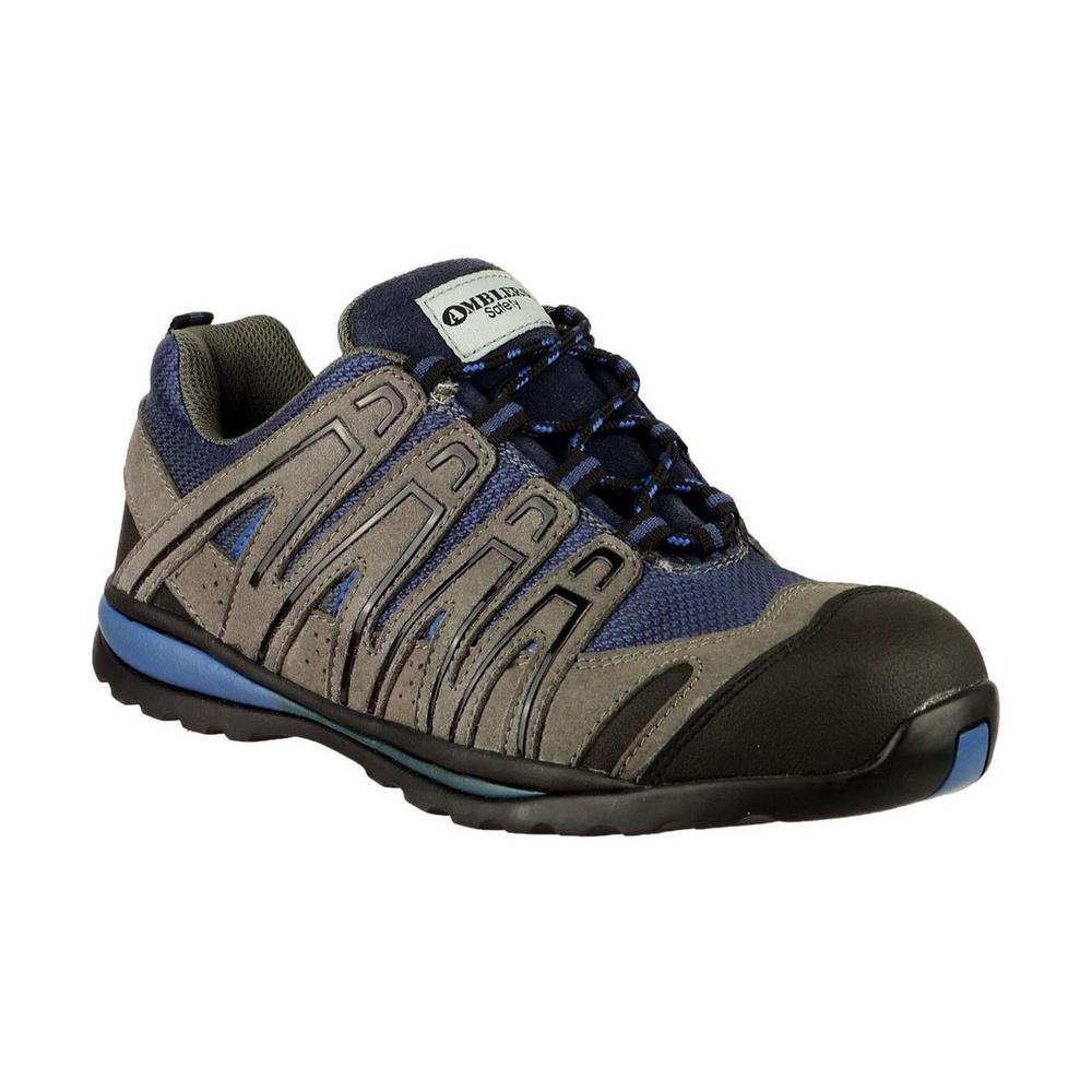 Amblers FS34C Metal Free Safety Trainer Grey & Blue