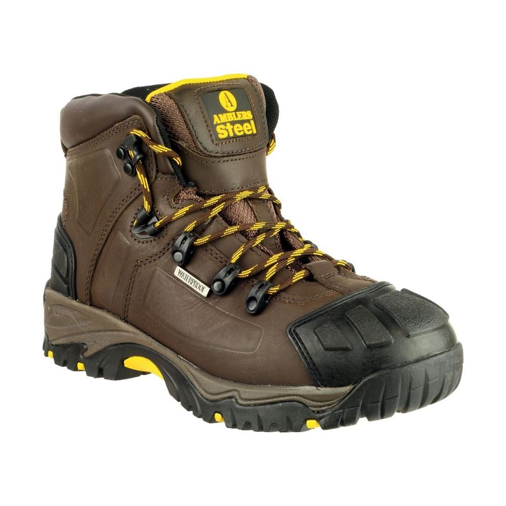 Amblers FS39 Unisex Waterproof S3 Safety Hiker Work Boots Leather Brown