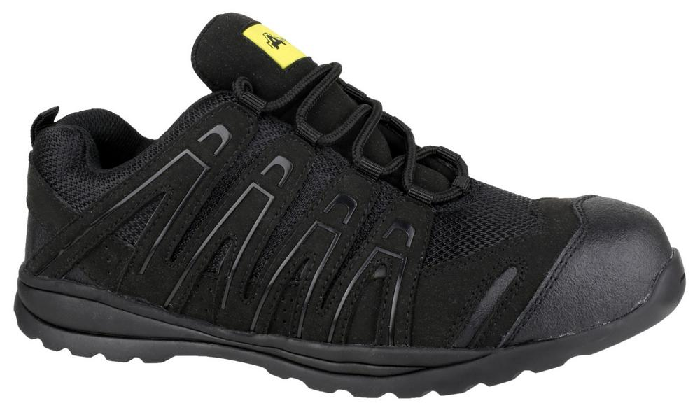 Amblers FS40C Antistatic Slip- Resistant Safety Trainers - Black