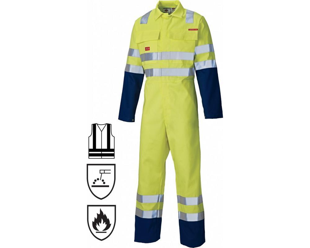 Dickies FR4870 Hi Vis Yellow Flame Retardant Coverall