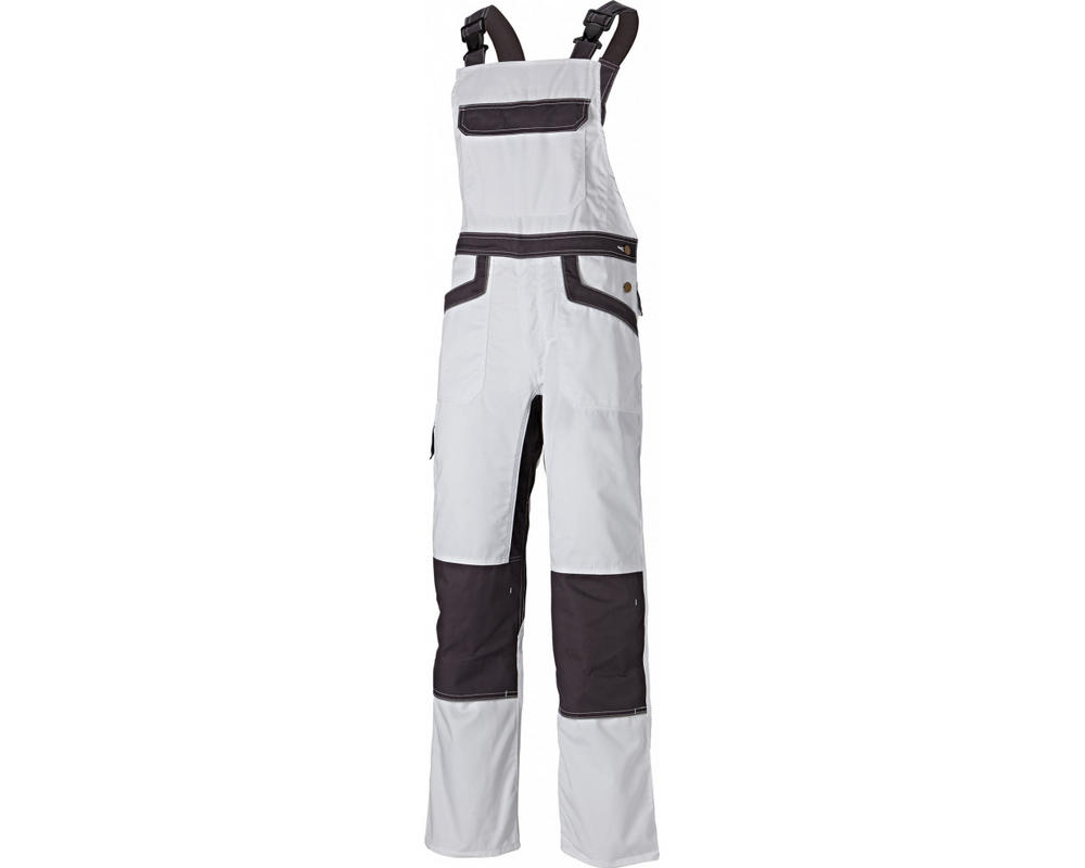 Dickies Industry 260 Bib And Brace Overalls Grey/Black