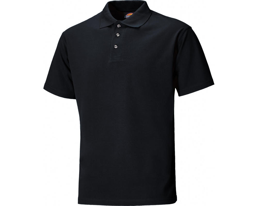 Dickies Sh21220 Three button Polo Shirt Black