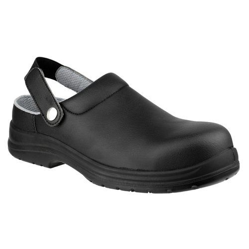 Amblers Safety Men's FS514 Clog Style Waterproof Safety Shoes Black