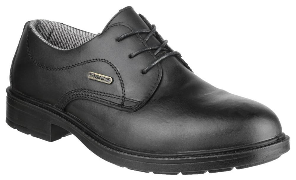 Amblers FS62 Men's Leather Antistatic Waterproof Safety Shoes - Black