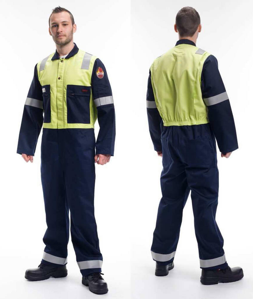 Roots RO18092 Flamebuster Nordic Anti-Static Coverall Navy/Yellow