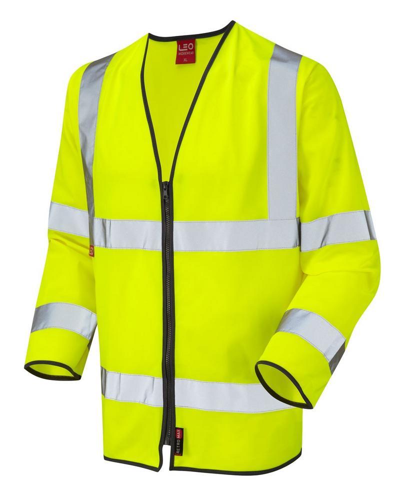 Leo Workwear Brayford S08-Y Hi Vis Limited Flame Spread Sleeved Waistcoat