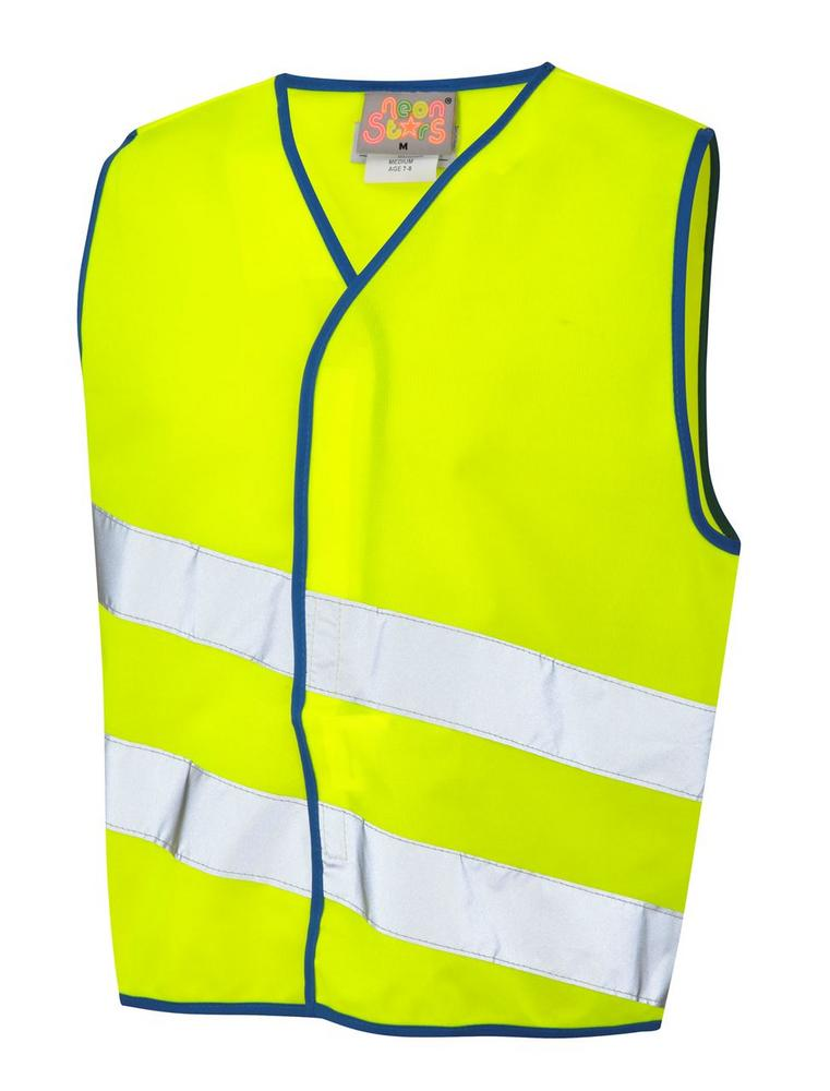 Leo Workwear Neonstars CW01 Children's Hi-Vis Waistcoat, Various Colours