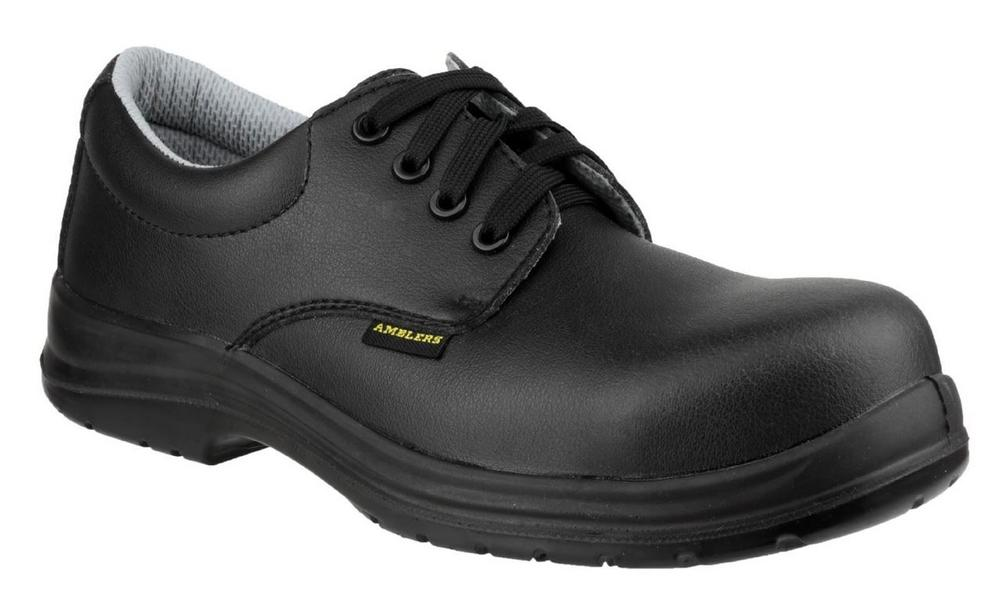 Amblers FS662 ESD Safety Lace Up Water Resistant Shoes - black