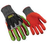 Ringers R-065 Hi Vis Cut 5 Resistant TPR Nitrile Impact Protection Gloves, Size - XL