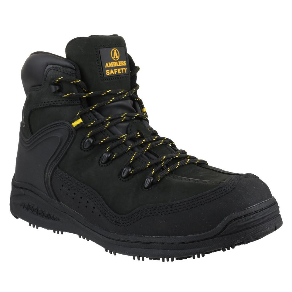 Amblers FS70C Metal-Free Slip- Resistant S3 Safety Boot - Black